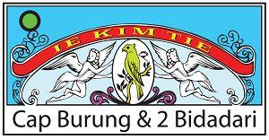 Logo cap Burung & 2 Bidadari produk PT Irawan Djaja Agung Surabaya