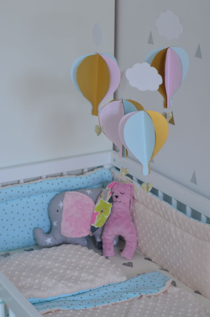 Nursery mobile Karuzela do łóżeczka Balony mobile handmade