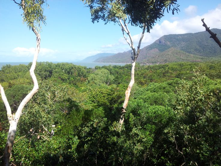 View of far Nth Queensland tropical coastline from our private bungalow #Thalabeachlodge