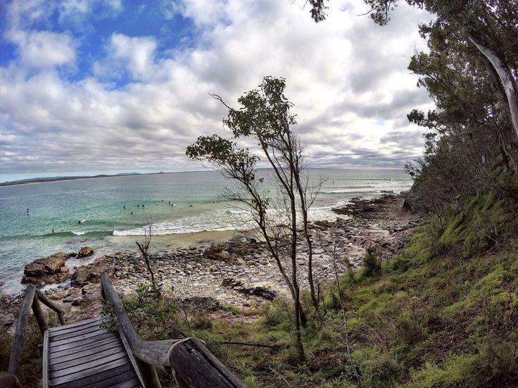 Noosa beach nationalpark sunshinecoast Queensland water travel stairs