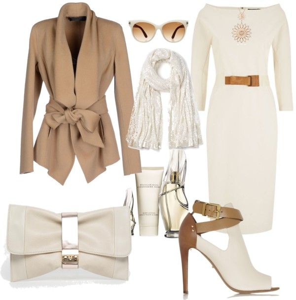 Creamy by artdreamstudio on Polyvore featuring Donna Karan, Sergio Rossi, Lipsy and Tom Ford