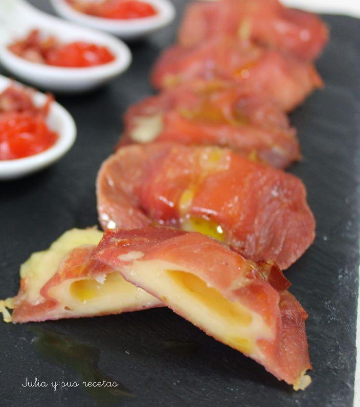 cucharilla, jamón, aperitivos, entrantes, Julia y sus recetas, queso