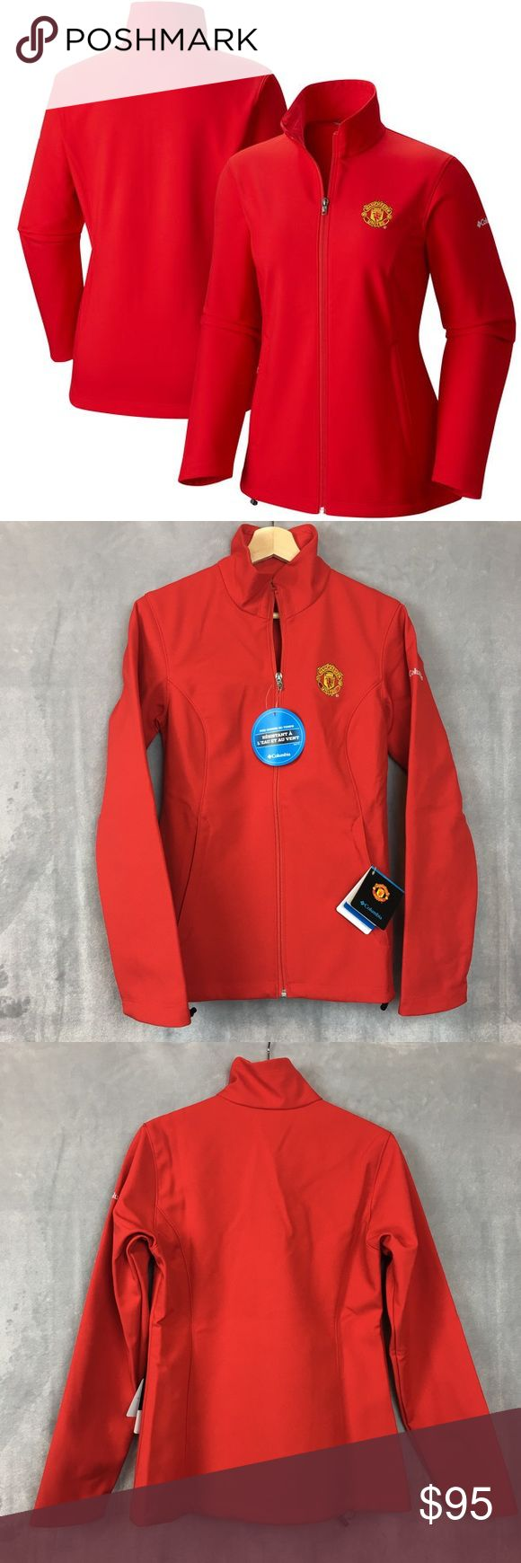 "Columbia Manchester United Jacket Kruser Coat NWT COLUMBIA KRUSER RIDGE SOFTSHELL JACKET WITH MACHESTER UNITED PATCH #1730831646  Size:  Medium; Womens  Color:  ""Cherrybomb"" Red  Condition: New with Tags; 100% Authentic  We reserve the right to change shipping carriers and methods as needed. Columbia Jackets & Coats"