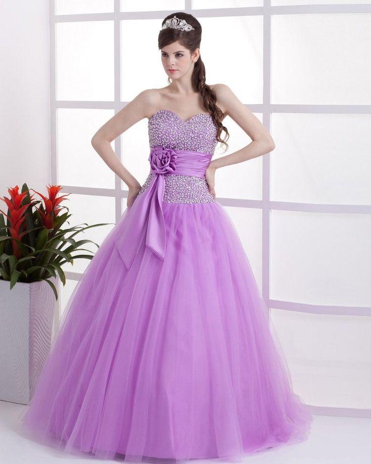 Vestidos de 15 años de color negro lila y prometer la vestido 100%