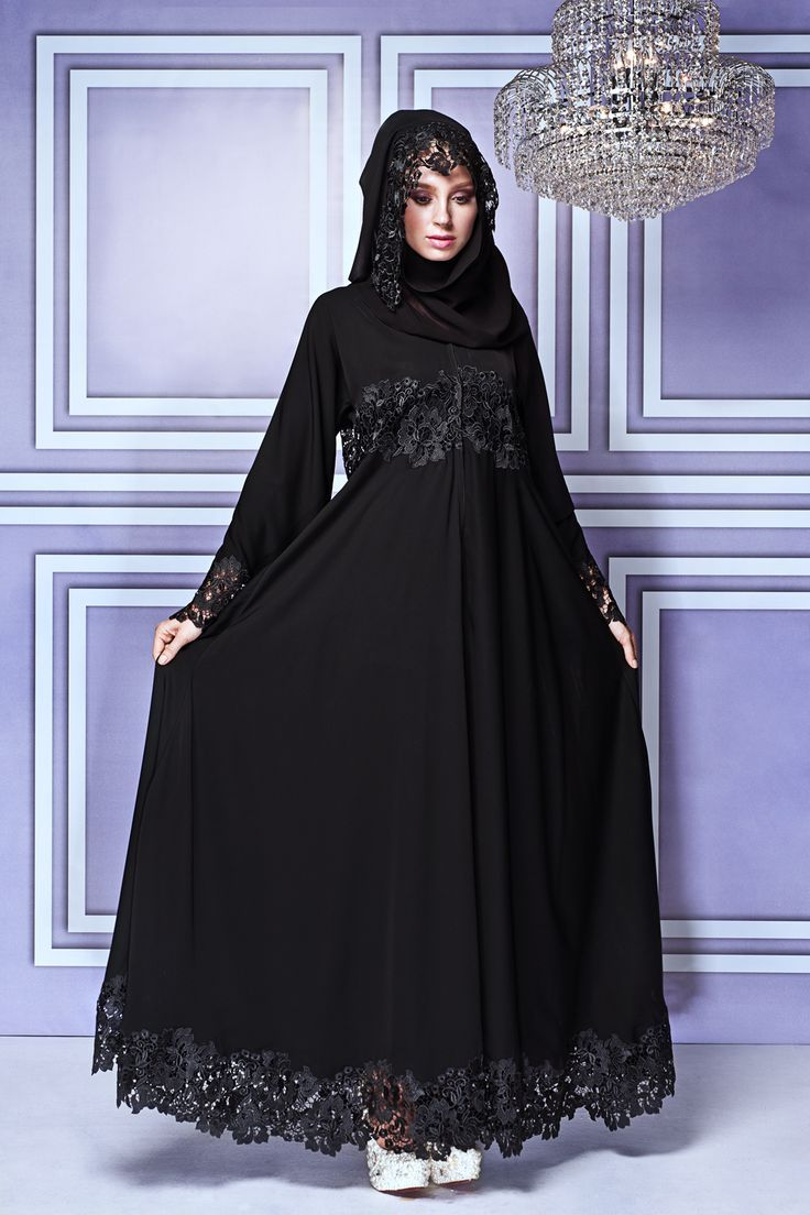 Impressive collection of abaya with flare designs (15)
