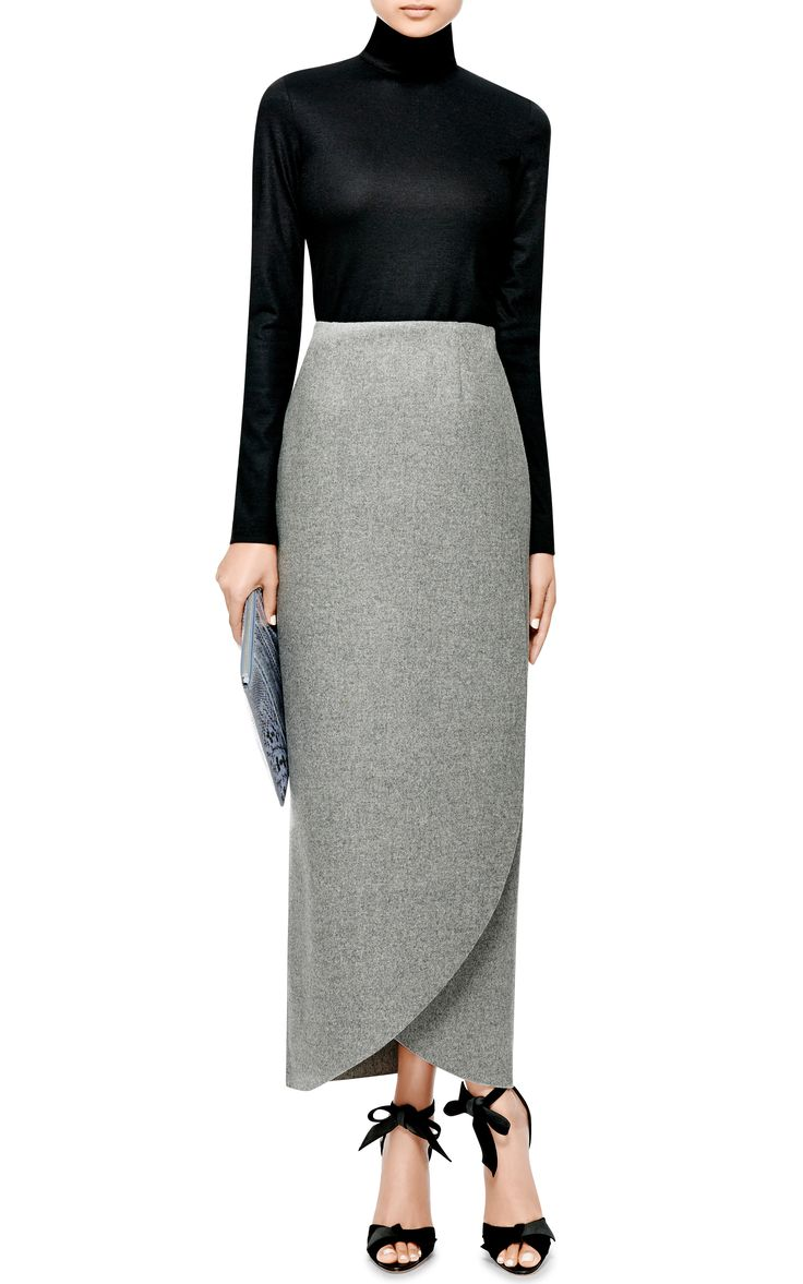 Wrap Wool-Flannel Maxi Skirt by Rosie Assoulin - Moda Operandi
