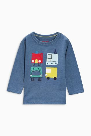 Buy Long Sleeve Blue Transport T-Shirt (3mths-6yrs) online today at Next: United States of America
