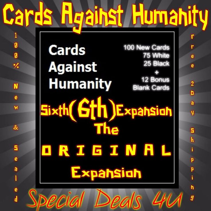 New Cards Against Humanity Sixth 6th Expansion Set Party Game Card Pack Games 6 #New