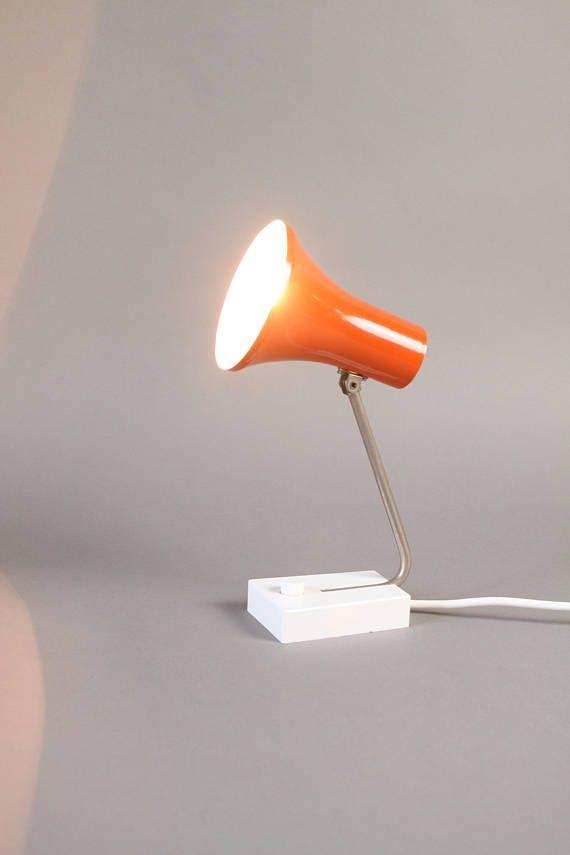 Vintage German Modern lamp, Pfäffle orange desk lamp of the70s by LeKosmosBerlin