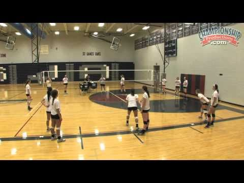 Discover a Fun Warm-Up Drill for Volleyball! - Volleyball 2015 #18 - YouTube