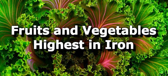 Fruits and Vegetables High in Iron