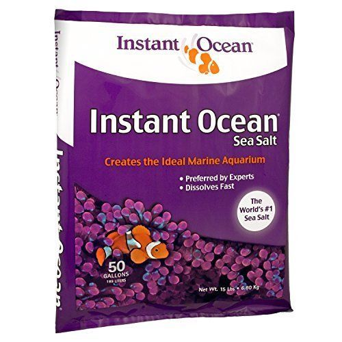 Instant Ocean Sea Salt, 50-Gallon Marine Aquariums Fish Tank Fast Dissolving #InstantOcean