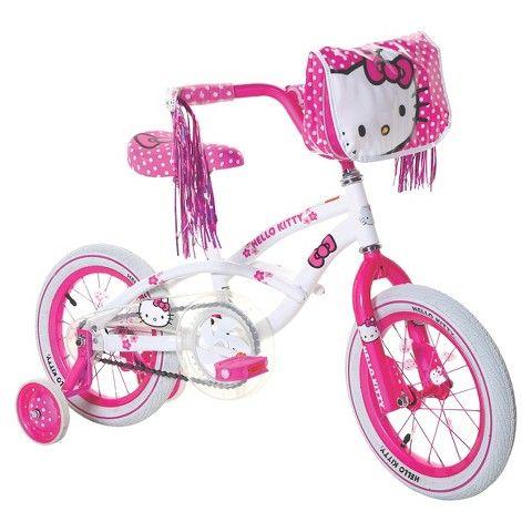 "Girl's Hello Kitty Bike - White/Pink (14"") : Target"