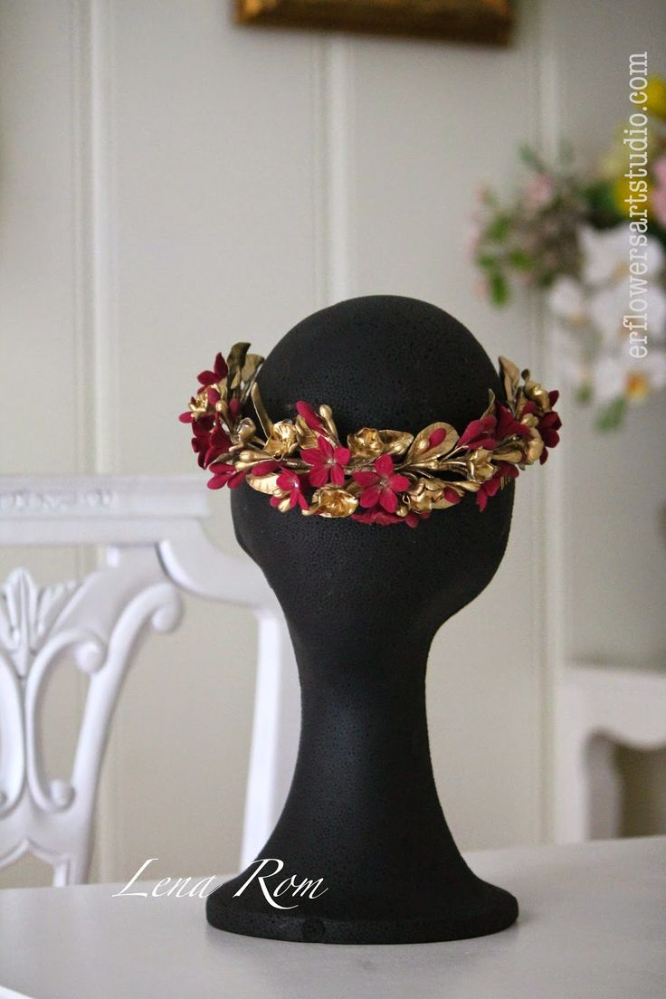 "Lena Rom. ER Flowers Studio.: Media corona 'Diana""."