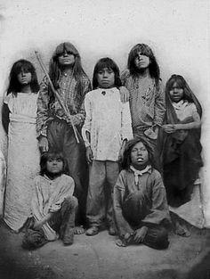 Pima Indian children. Arizona.