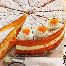 Мандариновый торт с творожным кремом