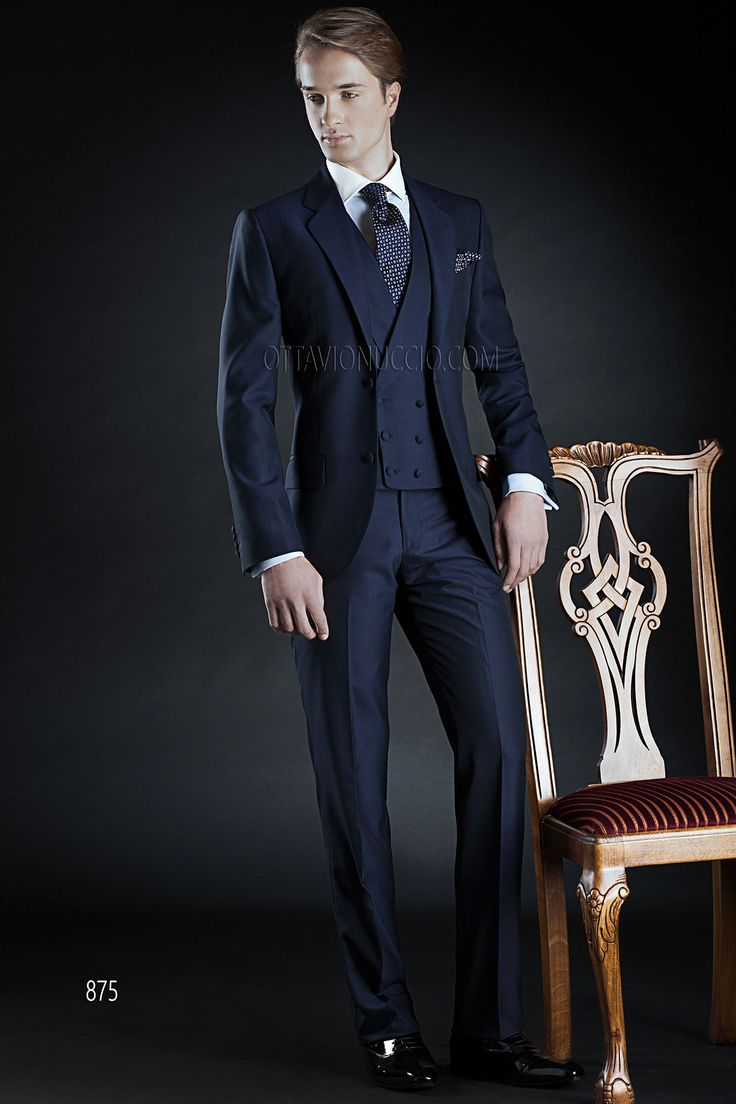 ONGala 875 - Mohair Alpaca Wedding Suits for groom in Marine Blue