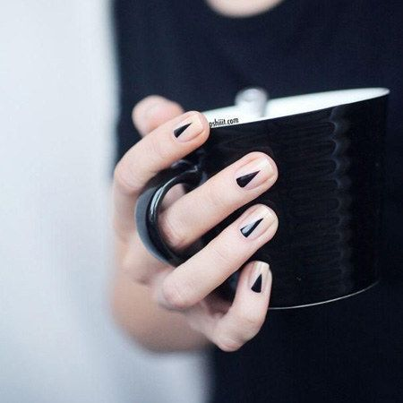 The halfmoon mani with a twist | 24 Ways To Get Your Nails Ready For The Spring