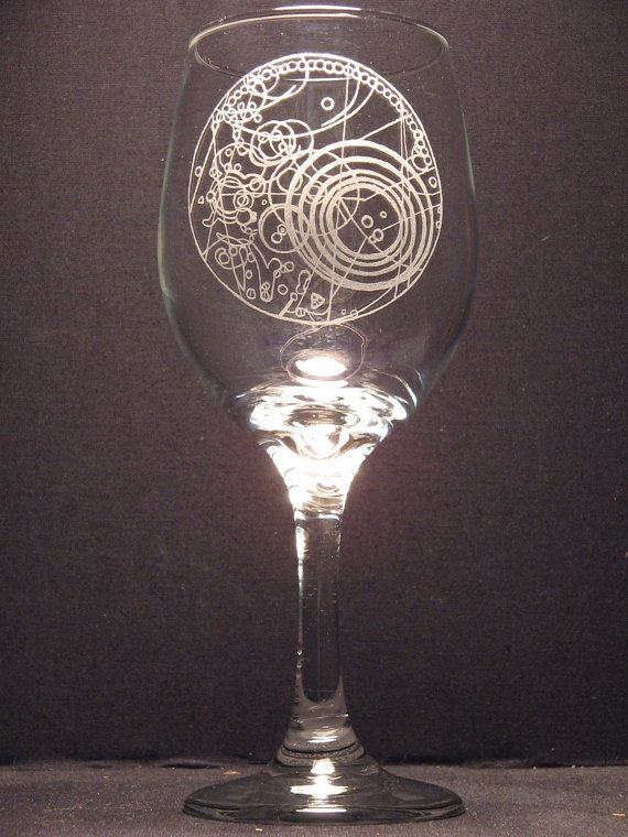 DR WHO Masters Fob Watch inspired Wine Glass Engraved Glass