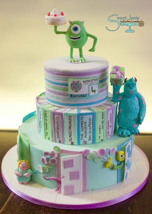 Monster University party - Cake by Sweet Janis