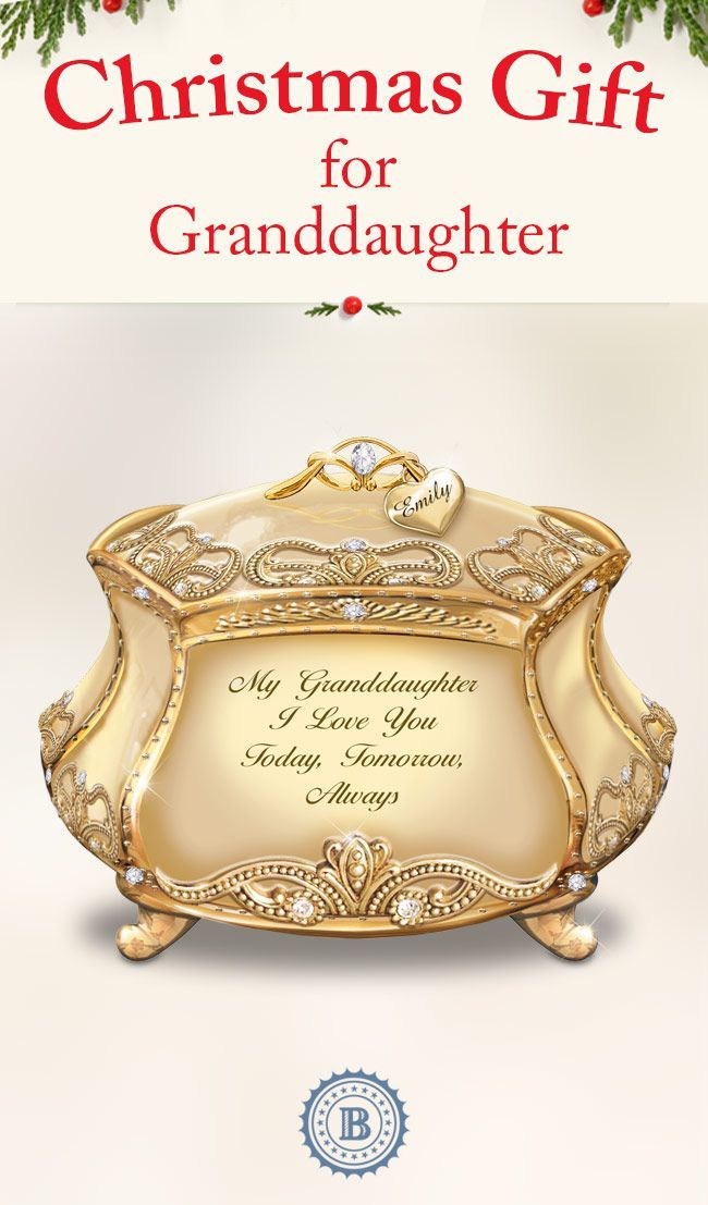 Tell your granddaughter she's a treasure beyond gold! The devotion in your heart is beautifully symbolized in this meaningful Christmas gift for her. For a special touch, you can even have it personalized with her engraved name at no additional cost. Personalize one for each of your granddaughters.