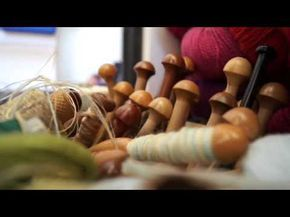 Jilly Edwards describes the weaving process from inspiration to execution as she prepares a piece for exhibition at the Ruthin Craft Centre. She explains how to make an original design into a woven piece.