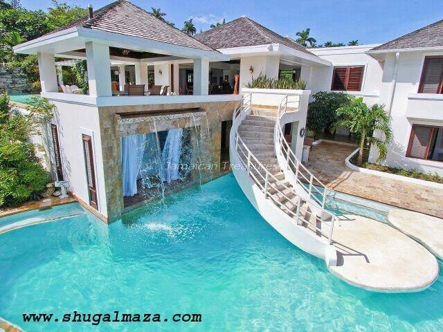cool pools with waterfalls in houses - Cool Pools With Waterfalls In Houses