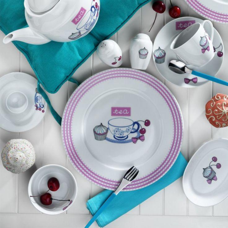 Kütahya Porselen 33 Parça 208003 Desen Kahvaltı Takımı ::