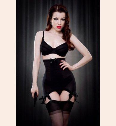 Vargas Longline Girdle by Kiss Me Deadly - designer lingerie at Fox & Rose