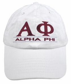 Alpha Phi Line Hat SALE $18.95. - Greek Clothing and Merchandise - Greek Gear®