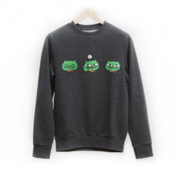 [K-pop] Okcat Man-to-Man Sweatshirt (2PM Ok Taec Yeon Cat Character)