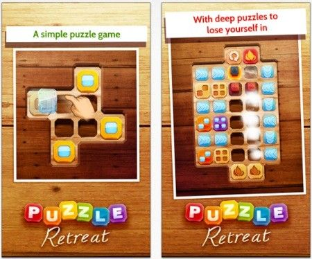 Daily iPhone App: Puzzle Retreat is the result of a lot of hard work...  Puzzle Retreat is a solid puzzle game, and you can tell it's the product of a lot of hard work and consideration. The game is available for US$0.99, and it comes with 96 different puzzles to solve across two packs. If that's not enough for you, there are more puzzle packs available for 99 cents each, with 24 more puzzles each to solve.