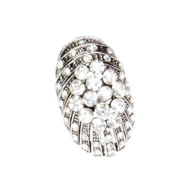 Pierścionek Vintage z Kryształkami Owal #ring #vintage #pierscionek