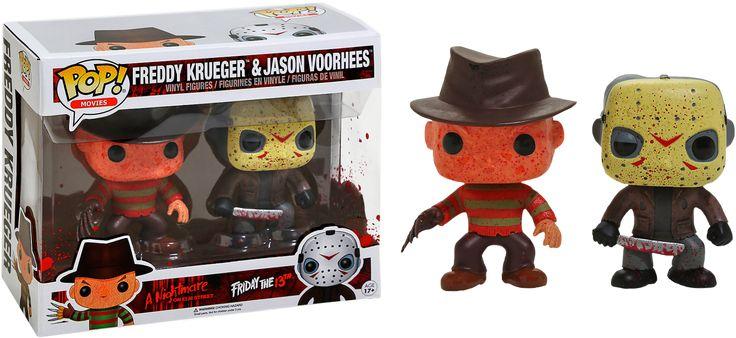 Pop! Movie - Freddy VS Jason - Freddy Krueger & Jaon Voorhees [Battle-damaged]