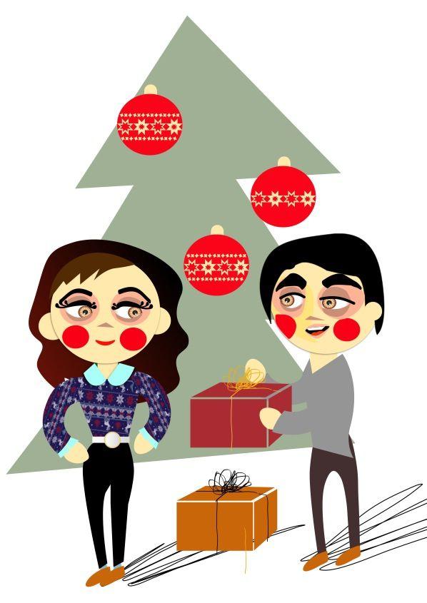 Children illustration , wintertime , Christmas