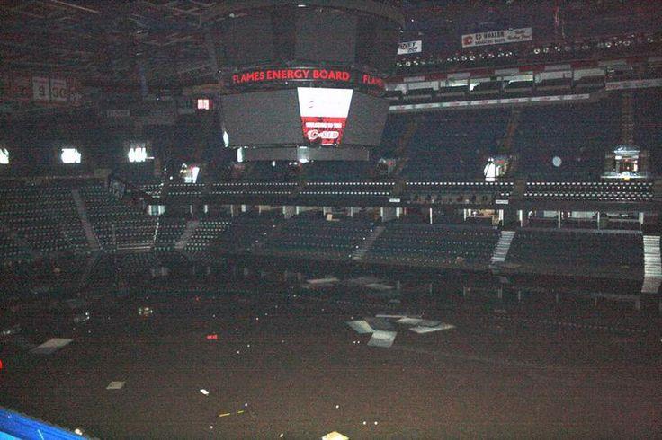 Calgary Saddledome flood damage, 2013