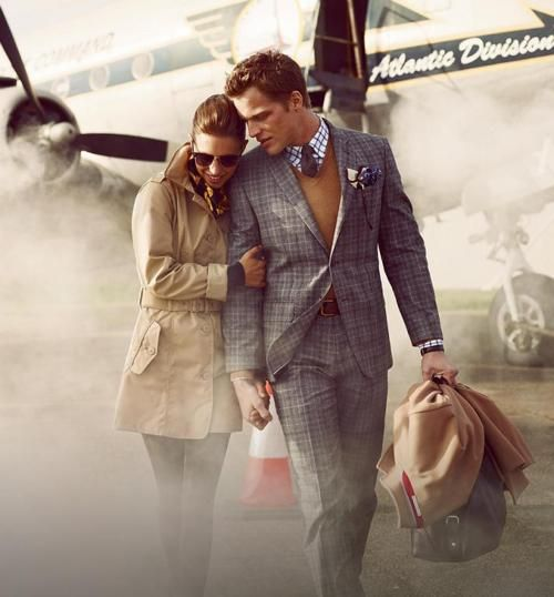 : Engagement Photo, Travel In Style, Airplane, Funny Commercial, Jets Sets, Men Fashion, Suits, Fashion Photography, Romance