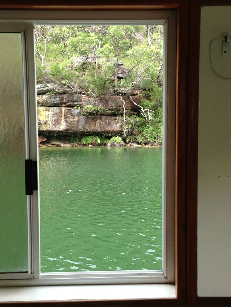 View from the loo - boating on the hawkesbury