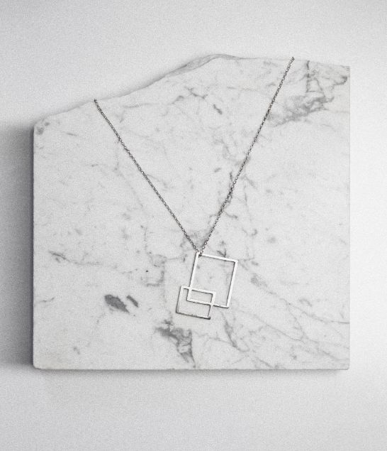 Angled marble jewellery display. Jewellery Editorials    |    @intentjewellery
