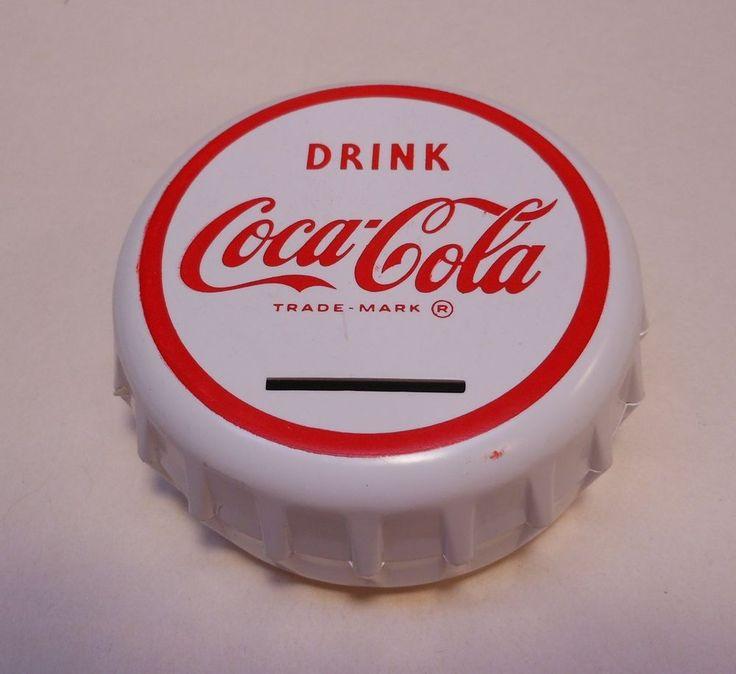 Vintage Coca Cola 1950's-60's Plastic Bank #COCACOLA