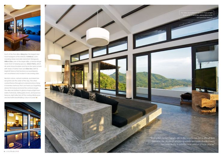 Casas Del Sol, Thailand. Tropical living at its best. Cocotraie Issue 12 Special Modern Designs.