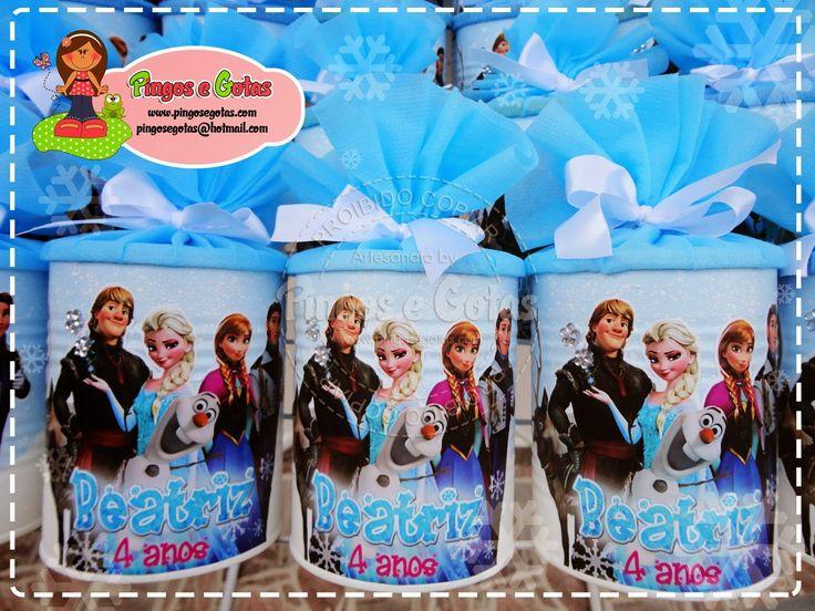 Latas e Caixas em MDF no tema Frozen