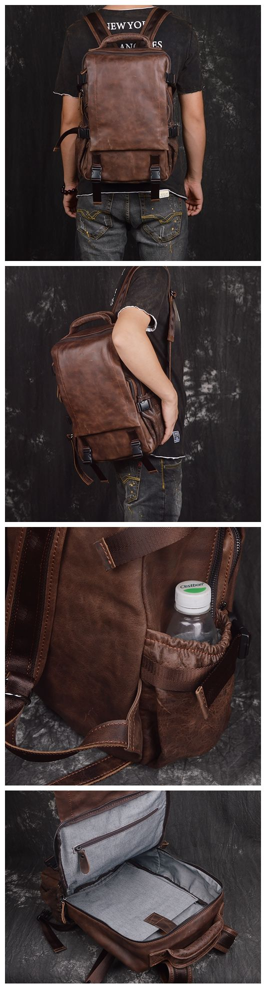 HANDCRAFTED GENUINE LEATHER BACKPACK, TRAVEL BACKPACK, LAPTOP BAG, SCHOOL BACKPACK