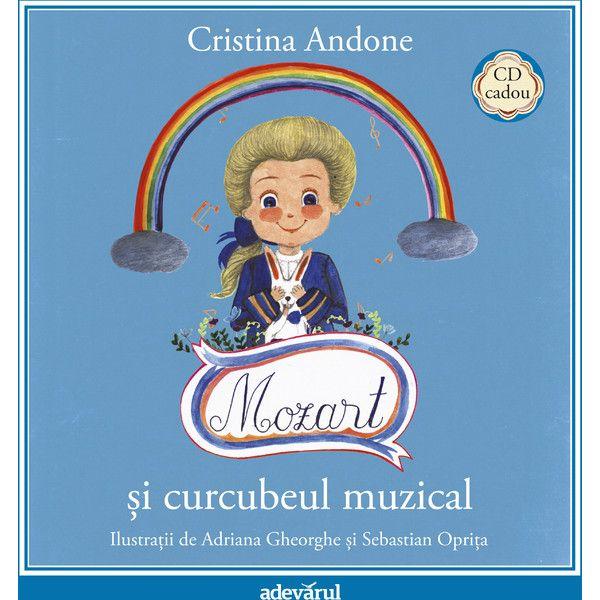 Mozart si curcubeul muzical - Carte + CD; Cristina Andone, Adriana Gheorghe, Sebastian Oprita; Varsta: 3+; În cele 40 de pagini frumos colorate vei găsi o poveste unică, special creată pentru copiii cu poftă de muzică bună și pentru părinții care înteleg că lucrurile frumoase nu au vârstă.