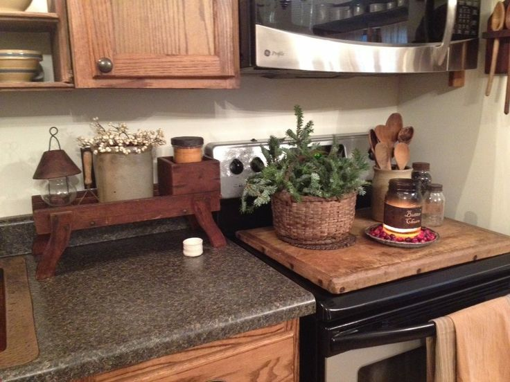 Primitive Stove Board Ready For Christmas At The Duncanu0027s. Primitive KitchenPrimitive  HomesPrimitive DecorCountry ...