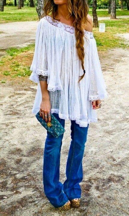 Bohemian fashion | Bohemian style #jetsethippiestyle #jetset #hippie