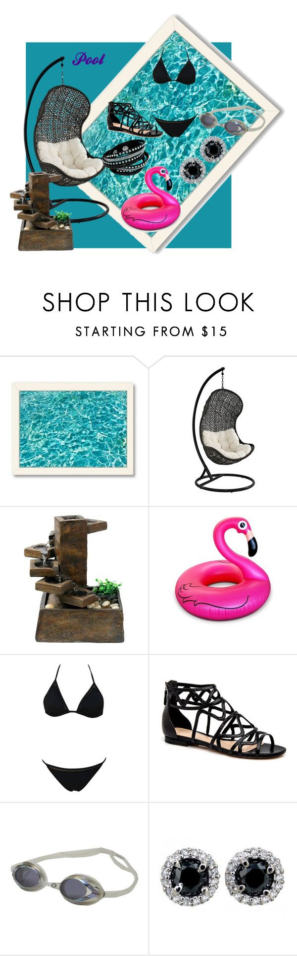 """Pool"" by o0kitten0o on Polyvore featuring Americanflat, Alpine, Big Mouth, Speedo, women's clothing, women, female, woman, misses and juniors"