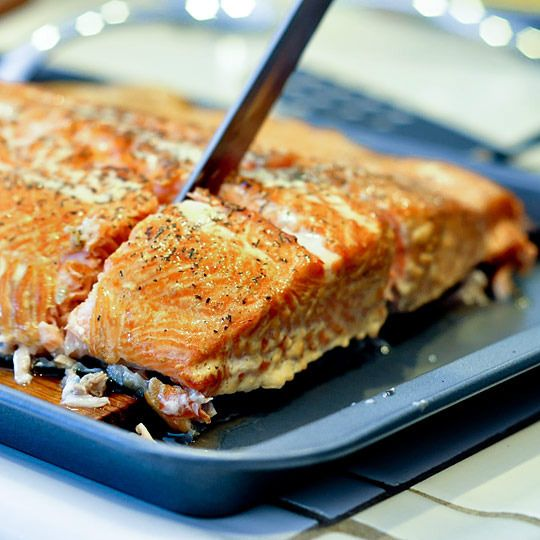 How to grill Salmon on a cedar plank. With all the great salmon available to us here in Seattle, I still don't know how to grill it.