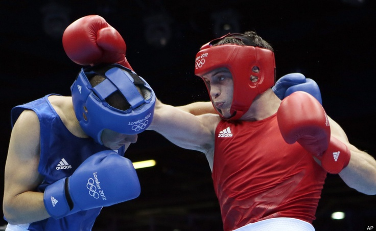 Olympic Boxing Day 2  Great Britain's Freddie Evans, and Algeria's Ilyas Abbadi.  Men's welter 69kg.