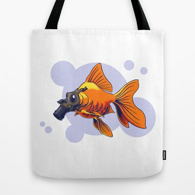 Breathe Tote Bag by Nameless Shame - $22.00